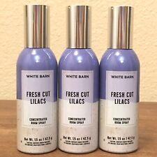 3 BATH & BODY WORKS FRESH CUT LILACS FRAGRANCE CONCENTRATED ROOM SPRAY 1.5 OZ
