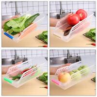 Kitchen Refrigerator Fruit Organizer Collecting Slide Shelf Rack Holder Storage