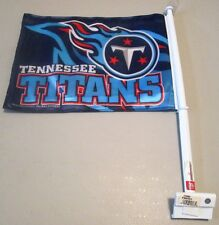 "TENNESSEE TITANS NFL Titans Fireball Logo DOUBLE SIDED CAR FLAG Flag 11'"" x 15"""