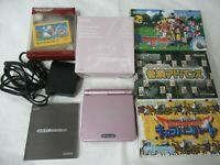 L90 Nintendo Gameboy Advance SP console Pearl Pink & Game Japan GBA w/box