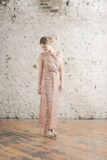 Vintage 1960s Bronze Metallic and Cream Evening Dress  size UK6