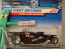 1998 Hot Wheels SUPER COMP DRAGSTER #655 ∞black; 3/2 decal ∞