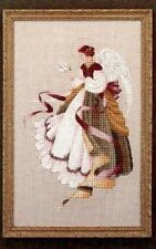 Angel of Grace Cross Stitch Chart Pattern Lavender and Lace