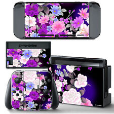 Ci-Yu-Online [NS] Flower Rose Purple VINYL SKIN STICKER DECAL Nintendo Switch
