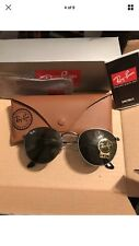 NEW RAY-BAN Sunglasses RB3447 Round GunMetal Silver Arista 50mm New Genuine