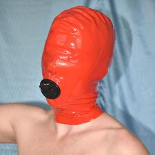 Rojos de látex máscara con boca * cremallera Rubber goma Hood con boca-preservativo
