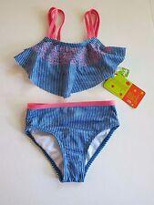 Penelope Mack Little Girl's 5 Blue Flutter Flounce 2 Pc Tankini Bikini Swimsuit