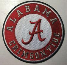 "Alabama patch Crimson Tide patch univ of alabama 4"" round iron or sew on patch"