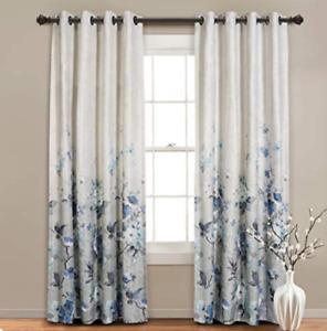 1 PANEL, Curtain Premium Floral for Bedroom Room Darkening(52 x 95 Inch, Purple)