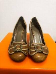 Brown Leather Alexander McQueen Shoes Buckle Heels 37.5-38
