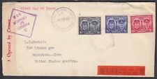 AUSTRALIA 1945 WWII CENSORED DUKE & DUCHESS OF GLOUCESTER FIRST DAY COVER FDC