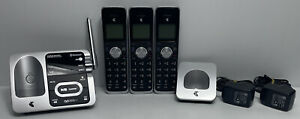 TELSTRA LONG RANGE 12850 TWIN HANDSET DECT360 CORDLESS PHONE BLUETOOTH A/MACHINE