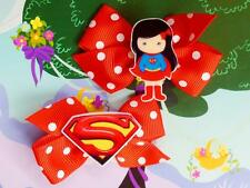 DC Super Hero Girls Supergirl Superwoman Inspired Costume Handmade Hair Clip