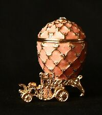 "St Petersburg Russian Faberge Egg: Easter Egg Trinket Box, 1.2"" ""Carriage"""