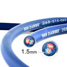 Van Damme Blue Series Studio 2x1.5mm Twin Axial Speaker Cable 1m - Unterminated