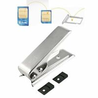 Sim Card Cutter For iPhone Android iPad Tablet Nokia Lumia LG with 2 Adapters