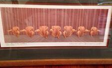 Bruce S. Garrabrandt Signed 69/500 Colored Pencil Art The Rockhenettes 1998 Fram