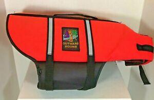 Outward Hound Orange Life Jacket Water Safety Vest Dog Size Large Chin Float