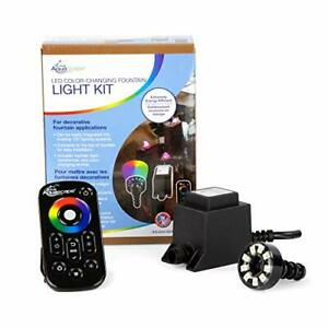 84055 LED Color Changing Fountain Light Kit Black