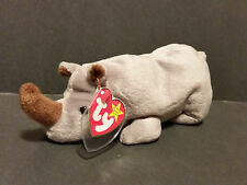 1996 TY Beanie Babies Spike the Rhino PE Pellets W/Tags