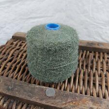 650g Green Mohair Loop Wool Yarn Cone Crochet Weaving Dyeing Angora Goat Lovely