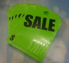 ~Free Shipping CAR DEALER LOT 300 HANGING REAR VIEW MIRROR TAGS CARDS SALE Green