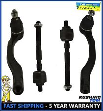 4 Pc Steering Set For EL Integra Civic Del Sol Civic Inner & Outer Tie Rod Ends