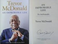 Signed Book An Improbable Life by Trevor McDonald Hardback 1st Edition 2019