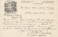 U.S. The Farmers Alliance Insurance Company,Kans 1907 Illustrated Letter Rf44039