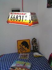 Lampe Billard Leuchte US Nummernschild Pool Stars Stripes Chevy Van Keller Party