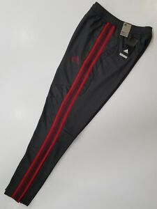 Adidas Tiro 19 GREY/SCARLET RED & BURGUNDY Stripes Training Pants FK9666 MEDIUM