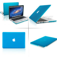 "FOR APPLE MACBOOK PRO 13"" RETINA RUBBERIZED HARD MATTE BLUE CASE KEYBOARD C"