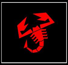 FIAT ABARTH SCORPION LOGO Rot Glanz 2x Aufkleber Sticker Emblem 100x93 mm