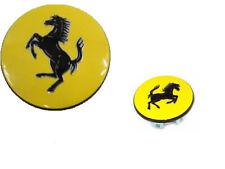 Ferrari Yellow Center Wheel Caps Set X4