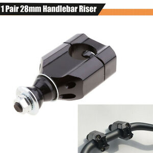 "2Pcs 28mm 1 1/8"" Motorcycle Handlebar Mounts Clamp Riser Adapter Accessories CNC"