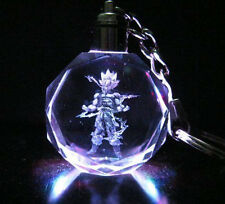 Dragon Ball Z Super Saiyajin 2 Son Goku Crystal Key Chain 7 Color Lights