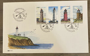 FDC FIRST DAY COVER LIGHTHOUSES DENMARK