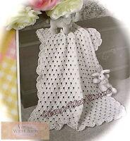 "Crochet Pattern Baby Blanket ""Blossom"" JUST £2.49 + FREE P&P!!"