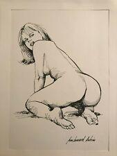 Dessin érotique nu féminin original de Jean Bernard Auboin