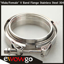 "3.5"" Self Aligning ""Male/Female"" V-Band Clamp CNC Stainless Steel Flange Kit"