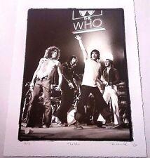 THE WHO FINE ART PRINT PHOTO LIMITED EDITION S&N #1/30 ROCK PAPER PHOTO COA RARE