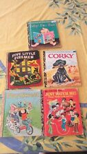 Vintage Bulk lot of 5 Little Golden Books babys first book,corky,play street++