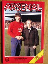 Arsenal v Rotherham United 1985/86 FA Cup programme