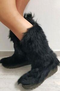 NEU Yeti 70er Lammfell Stiefel Fellstiefel 39 Pelz Fur Boots Vintage After Ski *