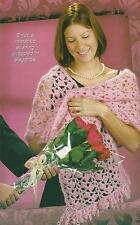 Crochet Pattern ~ Ladies Pretty in Pink Stole Wrap Shawl ~ Instructions