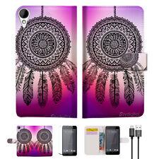 Dream Catcher Wallet TPU Case Cover For HTC Desire 825 -- A027