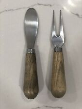Pampered Chef Ash Wood Fork & Spreader Set #1483 Retired