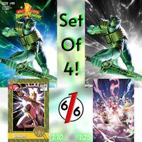 🚨💥 MIGHTY MORPHIN POWER RANGERS #55 SET OF 4 Variants Junggeun Yoon 1:10 1:25