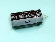50pcs Nichicon PF 1000uF 25v 105C Radial Electrolytic Capacitor