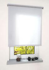 Springrollo Mittelzugrollo Schnapprollo Fenster Rollo Hellgrau  Breite 60-200 cm
